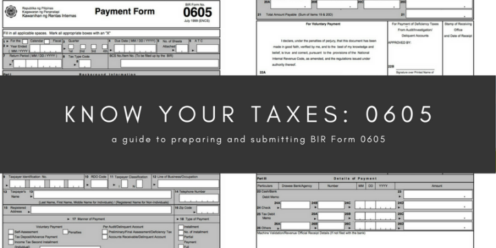 Know your taxes: 0605