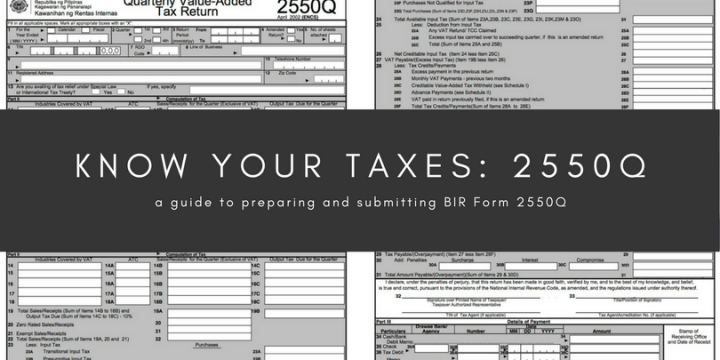 Know your taxes: 2550Q