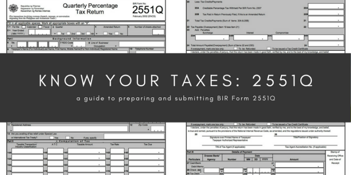 Know your taxes: 2551Q