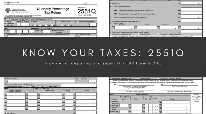 Know your taxes: 2551Q - Oojeema