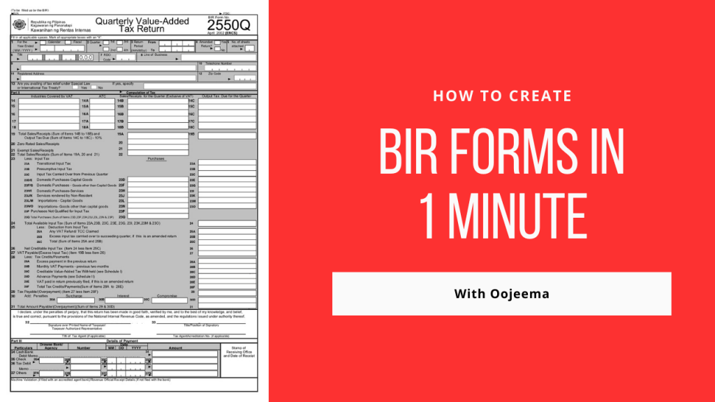 how to make bir forms fast