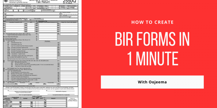 Why 1 Minute is All you Need To Prepare BIR Forms