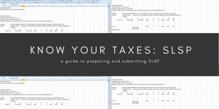 Know Your Taxes: SLSP