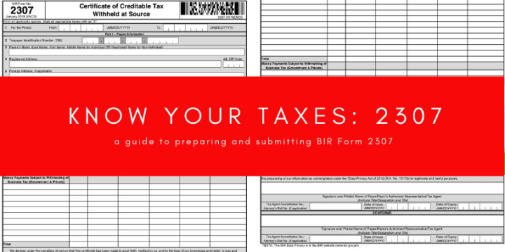 Know Your Taxes: BIR Form 2307